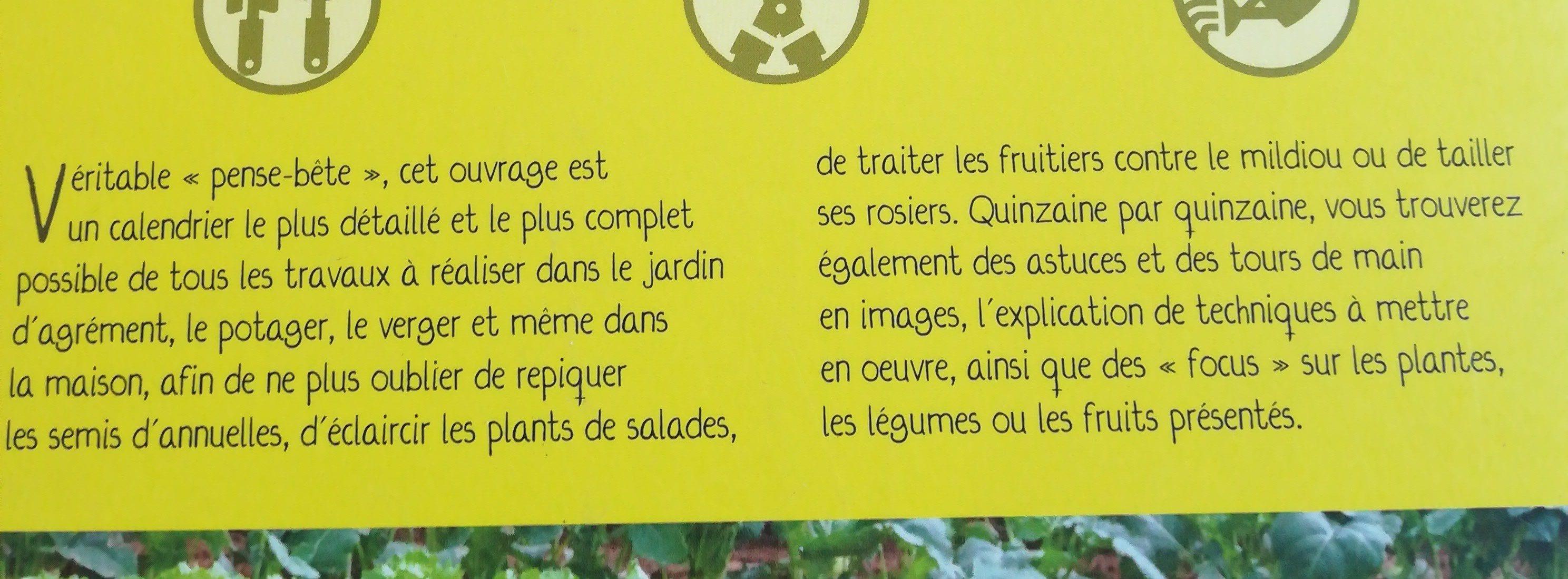 12 mois de jardinage - Ingrédients - fr