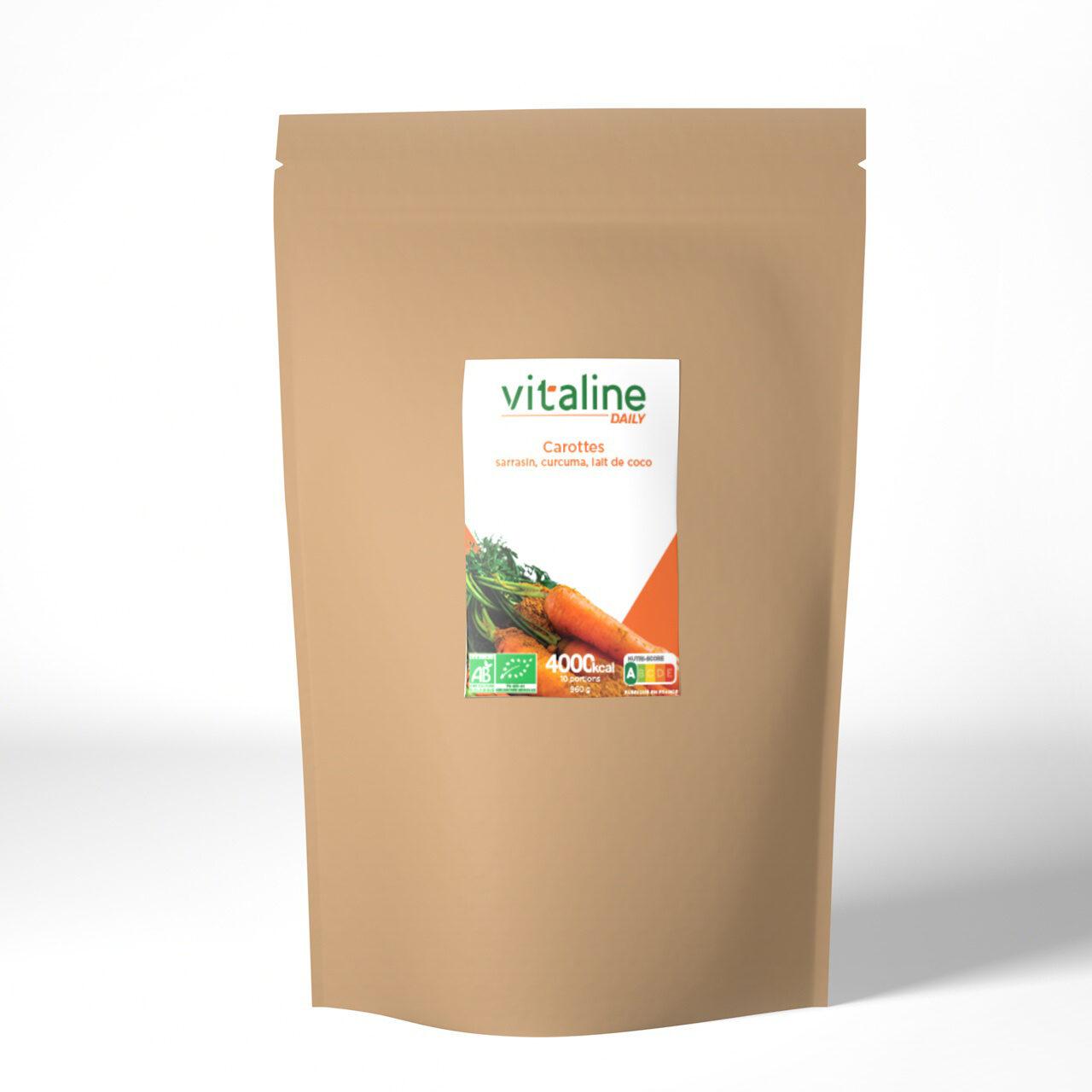 Vitaline Carottes, sarrasin, curcuma, lait de coco - Product - fr