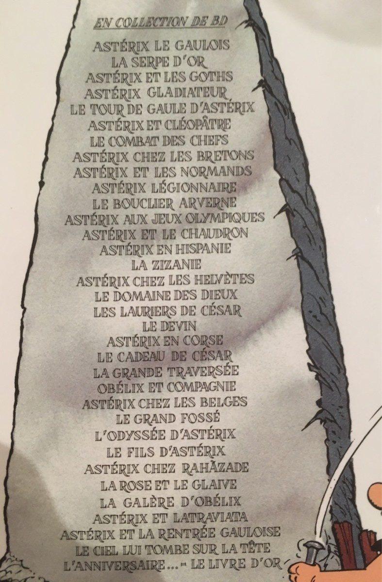 Asterix Et La Rentree Gauloise - Ingredients - fr