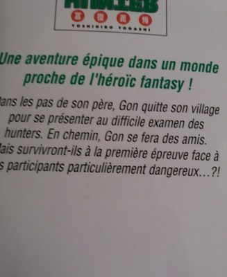 Hunter x hunter - Ingredients