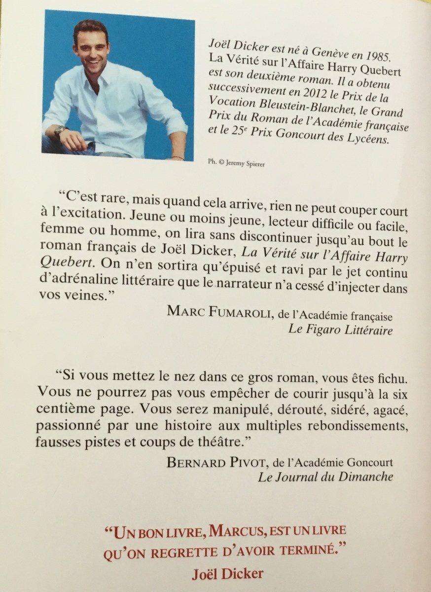 La Verite Sur L'affaire Harry Quebert - Ingredients - fr